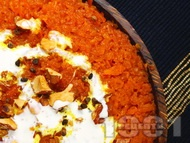 Халава - десерт от моркови, сметана и ядки